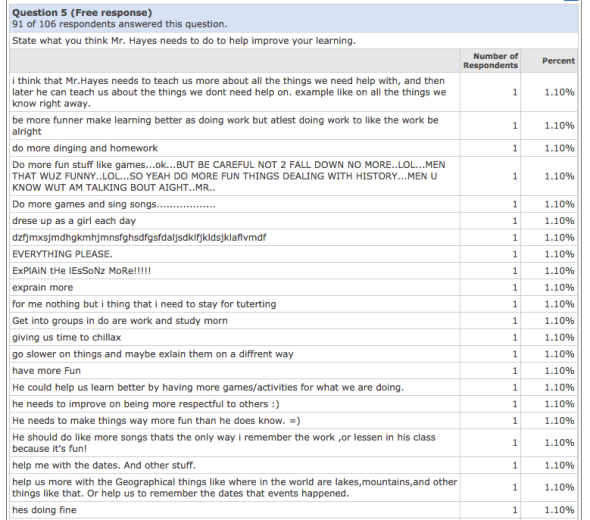 Quia Survey Example