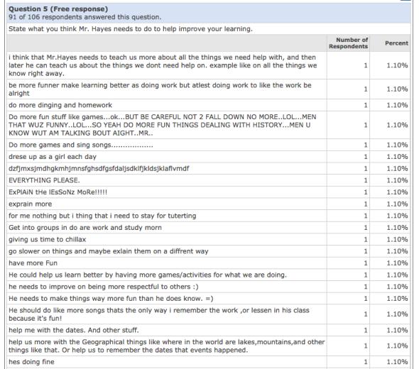 Quia Survey Example