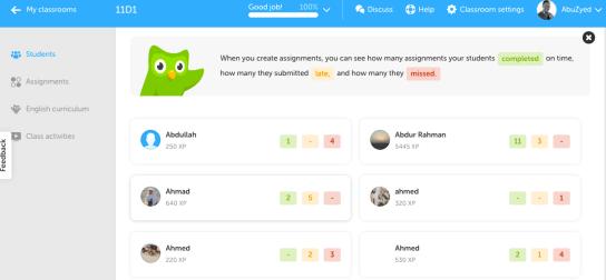 Duolingo Example 3