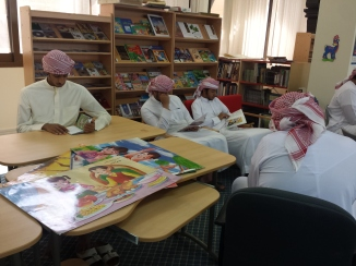 Reading warriors program in the library.